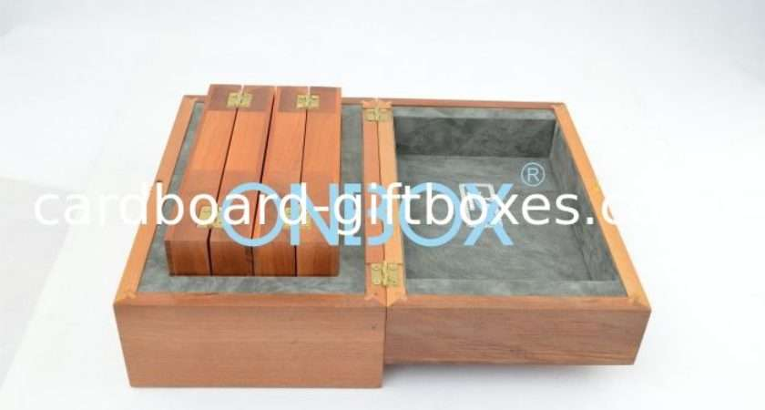 Luxury Matt Painting Wooden Box Hinged Lid Solid Wood Coin Case