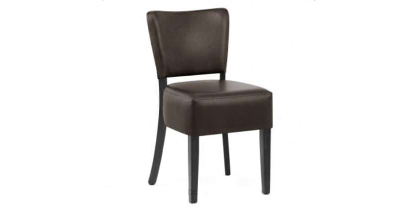 Lydia Brown Faux Leather Dining Chair Chairs Room