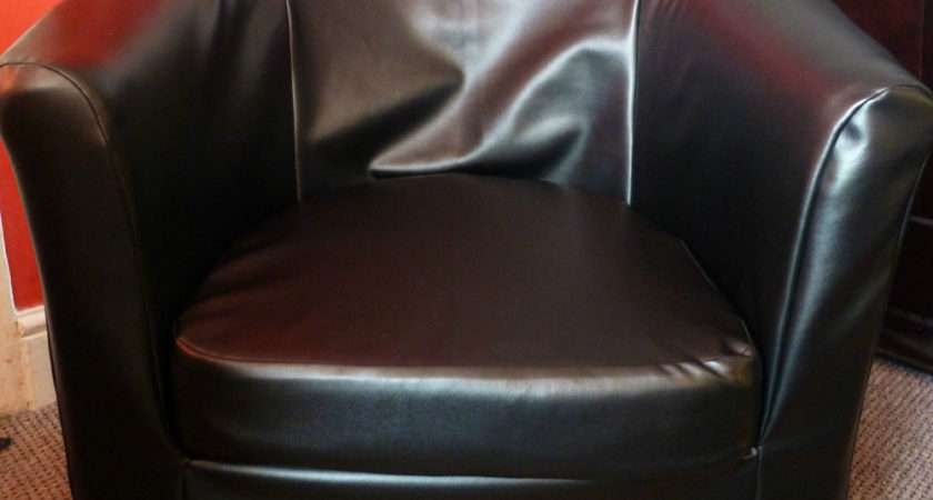 Made Faux Leather Slip Cover Ikea Ektorp Tullsta Tub Chair Ebay