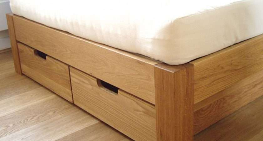 Made Measure Underbed Drawers Storage Oak Bed