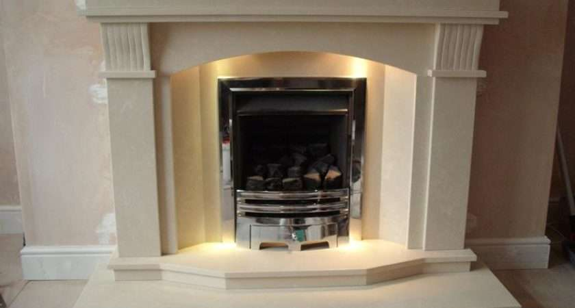 Magiglo Gas Fire Marble Fireplace Lights Ormskirk Lancashire