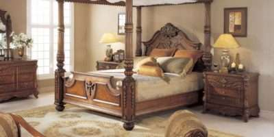 Mahogany Carved King Poster Bed Canopy Ebay