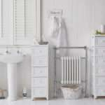 Maine Narrow Tall Freestanding Bathroom Cabinet Drawers