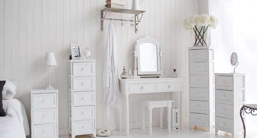 Maine Slim Tallboy Chest Drawers White Bedroom