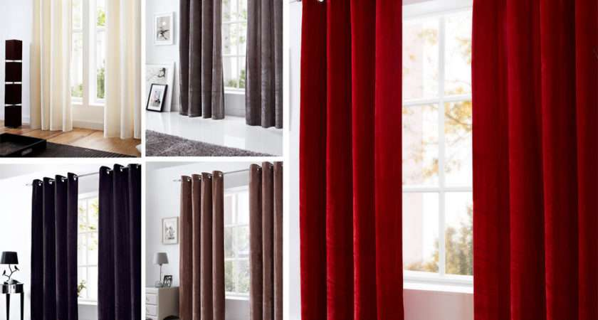 Majestic Velvet Curtains Modern Ready Made Fully Lined Ring Top