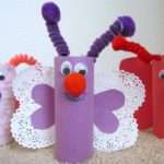 Make Butterfly Toilet Paper Tube Rolls Valentine Craft Idea