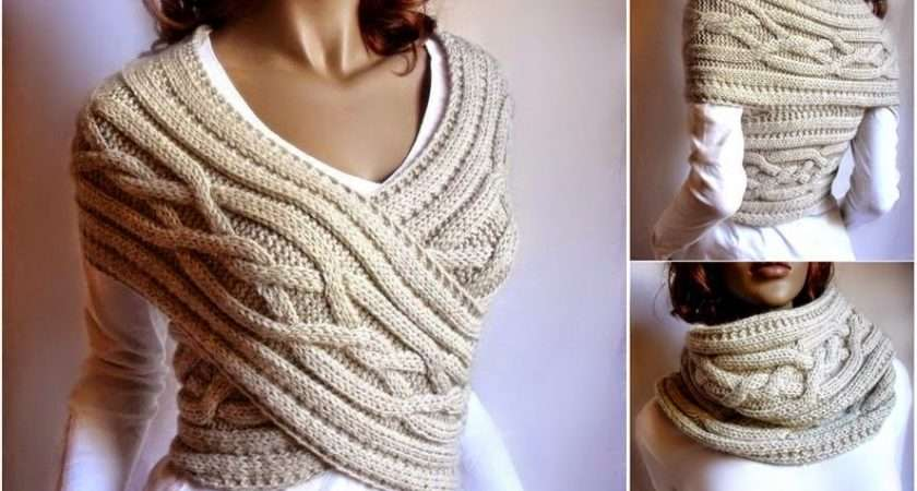 Make Cable Knit Sweater Cowl Vest Step Diy Tutorial