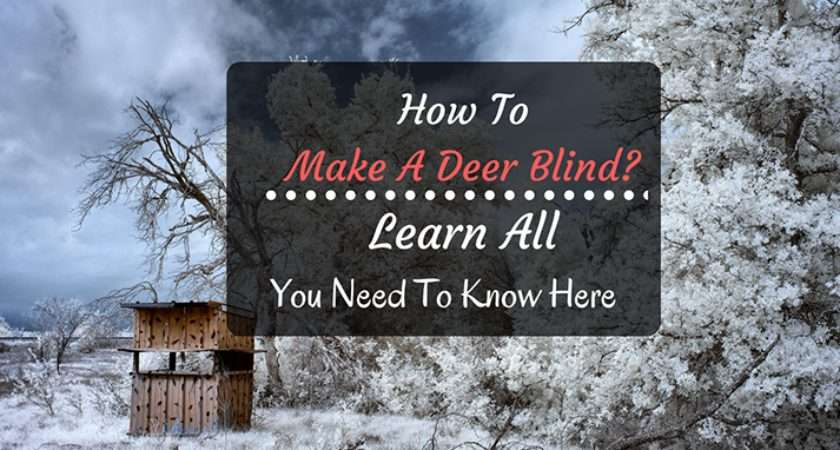 Make Deer Blind Learn All Need Know Here