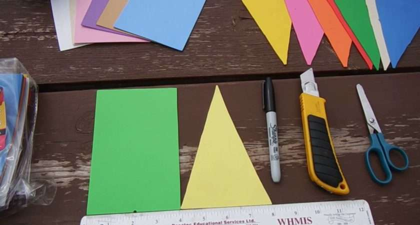 Make Easy Bunting Flags Youtube