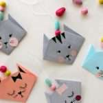 Make Easy Origami Cat Fun Crafts Kids