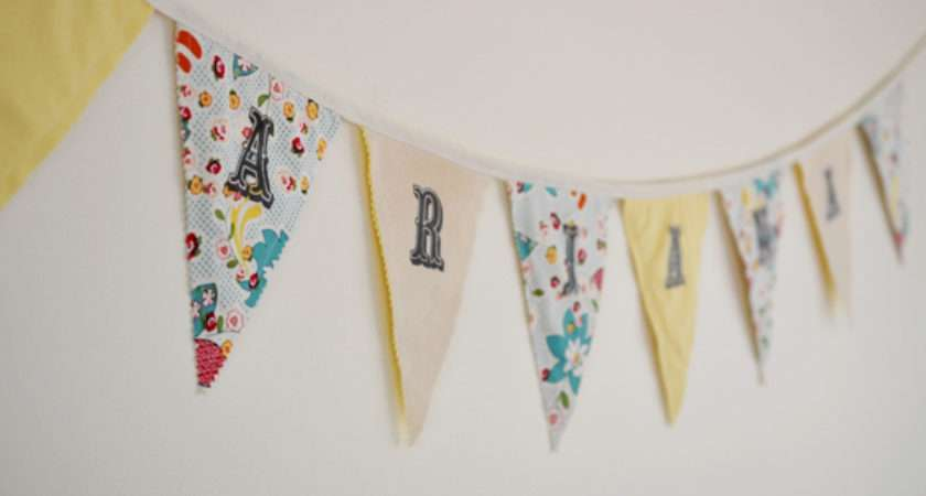 Make Fabric Bunting Letters Home Safe