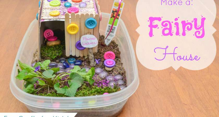 Make Fairy House Craft Living Well Mom