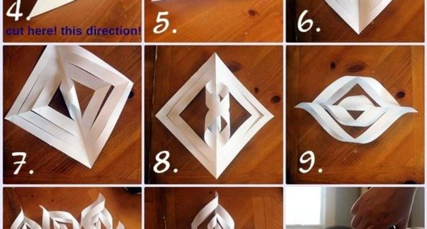 Make Giant Paper Snowflakes Step