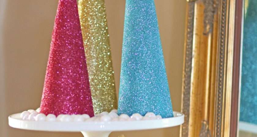 Make Glitter Christmas Tree Decorations Tos Diy