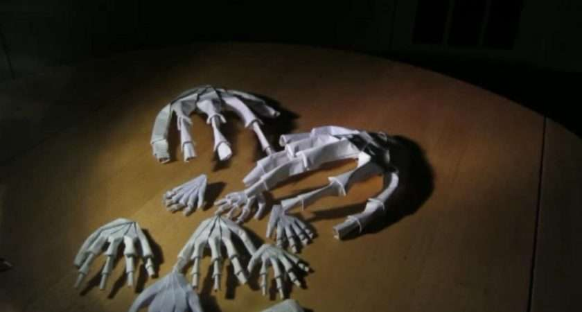 Make Hand Skeleton Origami Follow Video Tutorial Can