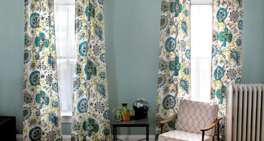 Make Lined Back Tab Curtains