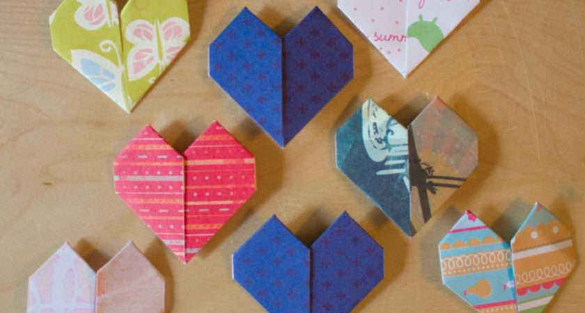 Make Origami Hearts Quick Easy Crafting Green World
