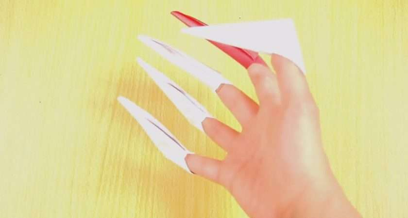 Make Origami Paper Claws Steps