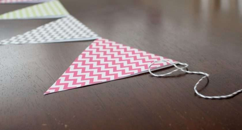 Make Paper Bunting Tutorial All Things Mamma