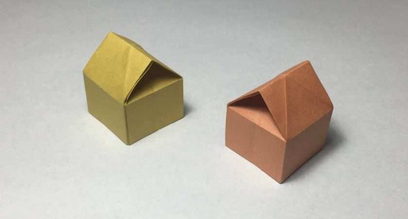 Make Paper House Origami Tutorial