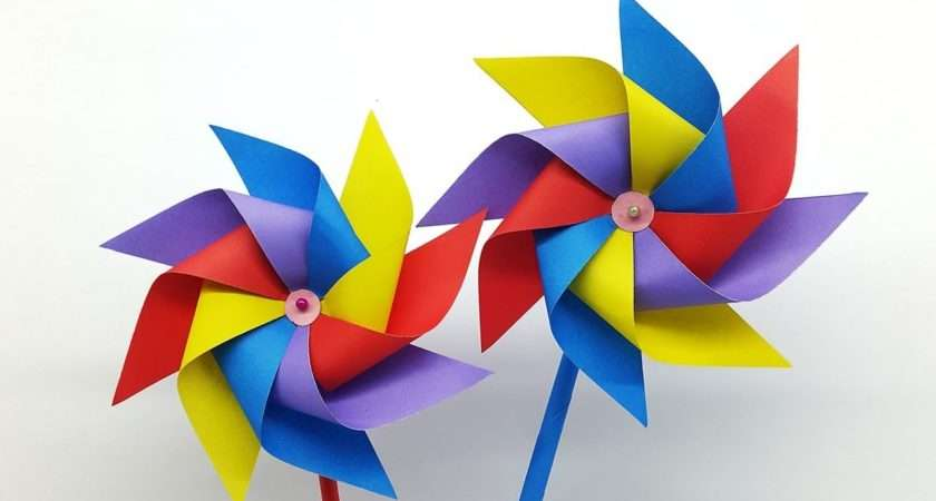 Make Paper Windmill Kids Making