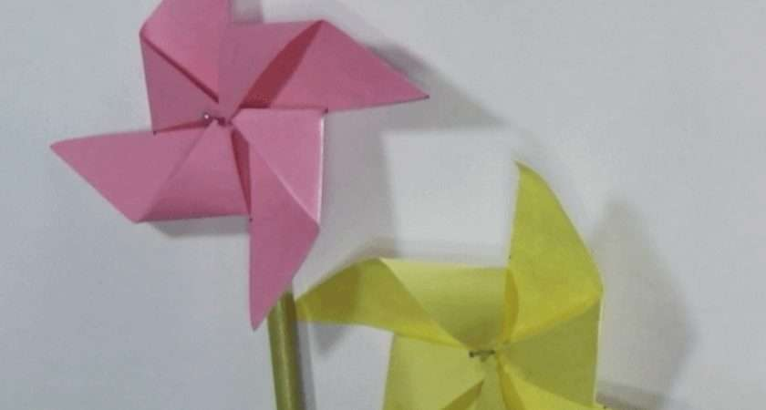 Make Paper Windmill Origami