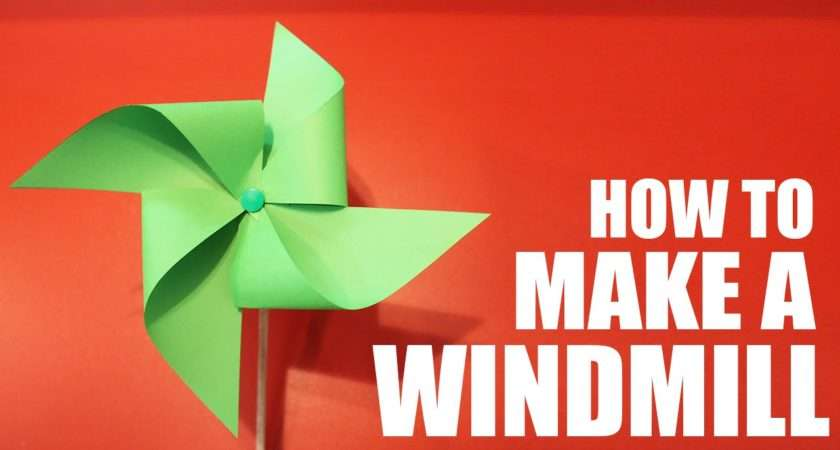 Make Paper Windmill Spins Youtube
