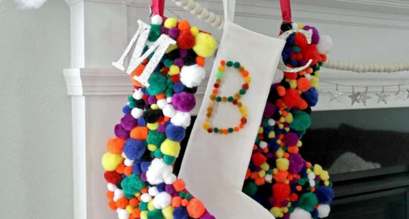 Make Pompom Christmas Stocking Tos Diy