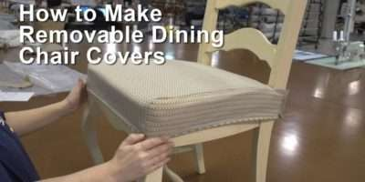 Make Removable Dining Chair Covers Youtube
