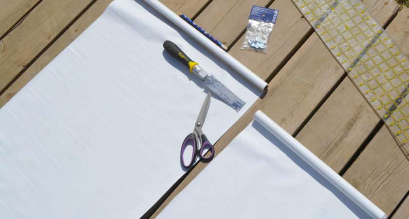 Make Sew Fabric Covered Roller Shade Diy Mommy