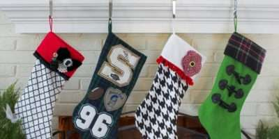 Make Sew Felt Stocking Easy Crafts Homemade