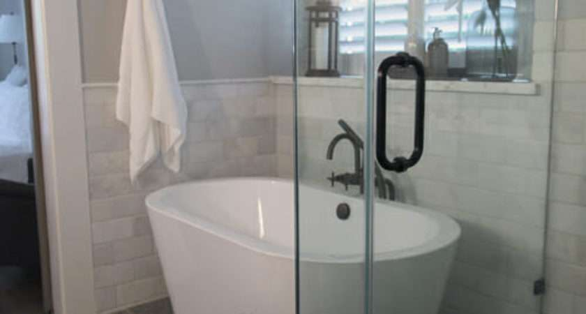 Make Small Master Bath Spa Like Modernize