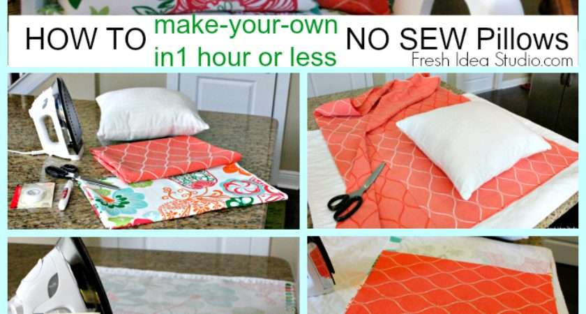 Make Super Easy Sew Pillow Cover