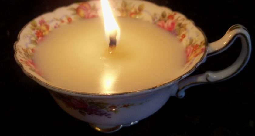 Make Tea Cup Candle Step Instructions