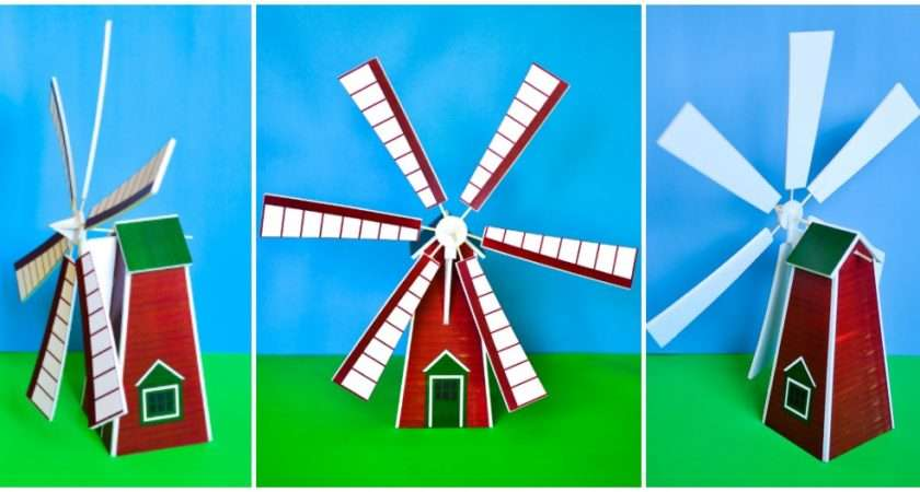 Make Windmill Model Printable Pattern