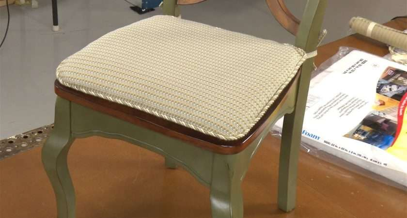 Make Your Own Chair Pad Cushions Youtube