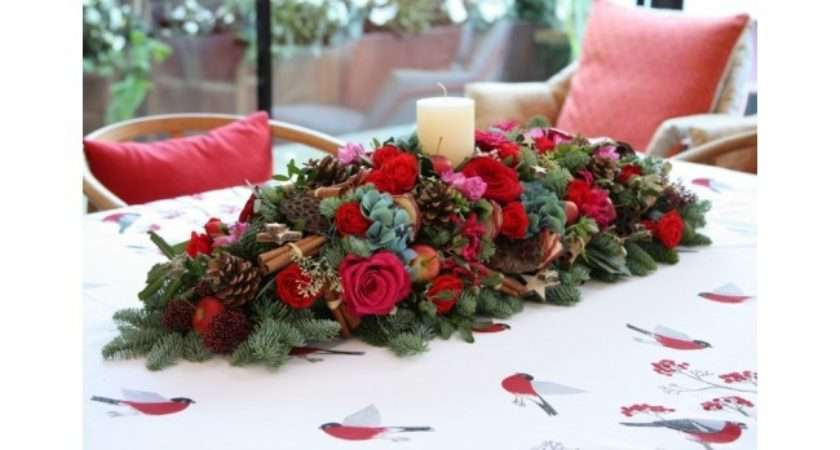 Make Your Own Christmas Table Centre Blog