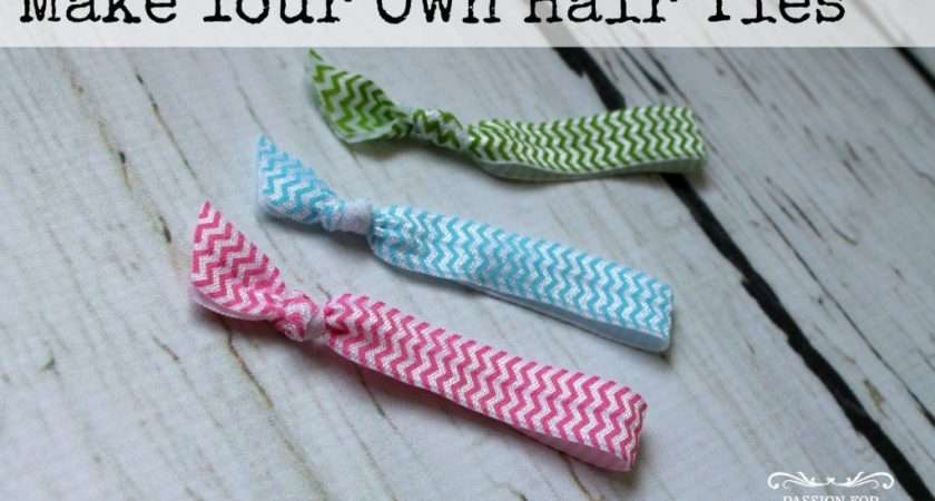 Make Your Own Hair Ties Passion Savings