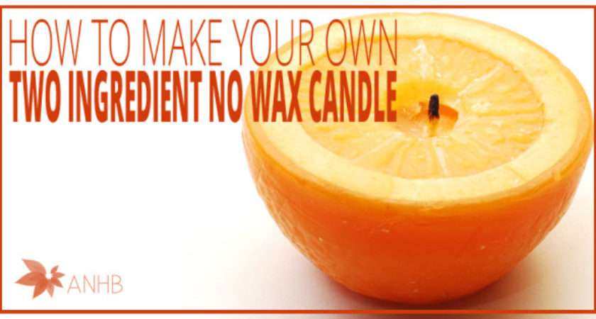 Make Your Own Two Ingredient Wax Candle