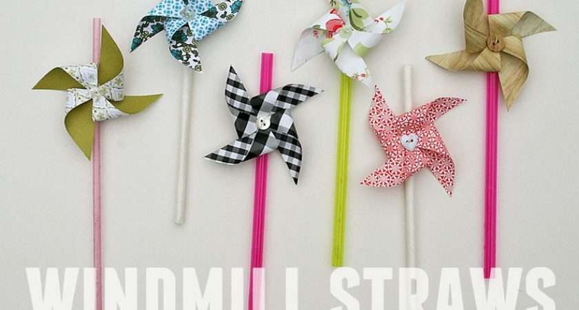 Make Your Own Windmill Straws Need Scraps Paper Ideally