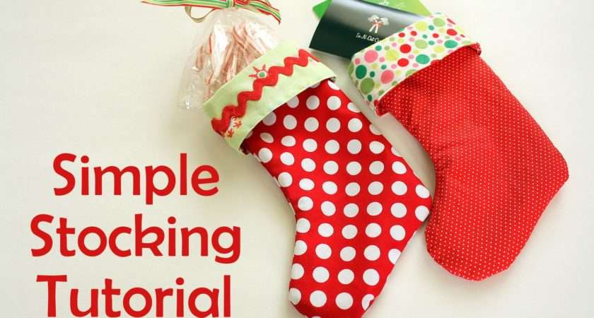 Making Lined Stockings Little Stocking Festive Way