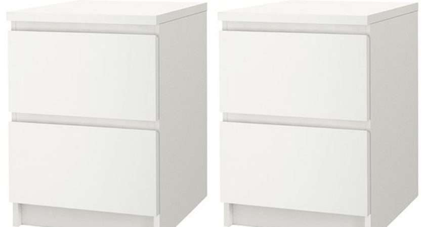 Malm Chest Drawers White Pcs Furniture Source