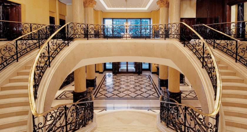 Mansion Staircase Enclosed Stairs Both Sides Sitting
