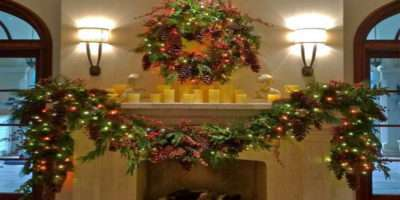 Mantle Decorations Christmas Living Room Ideas