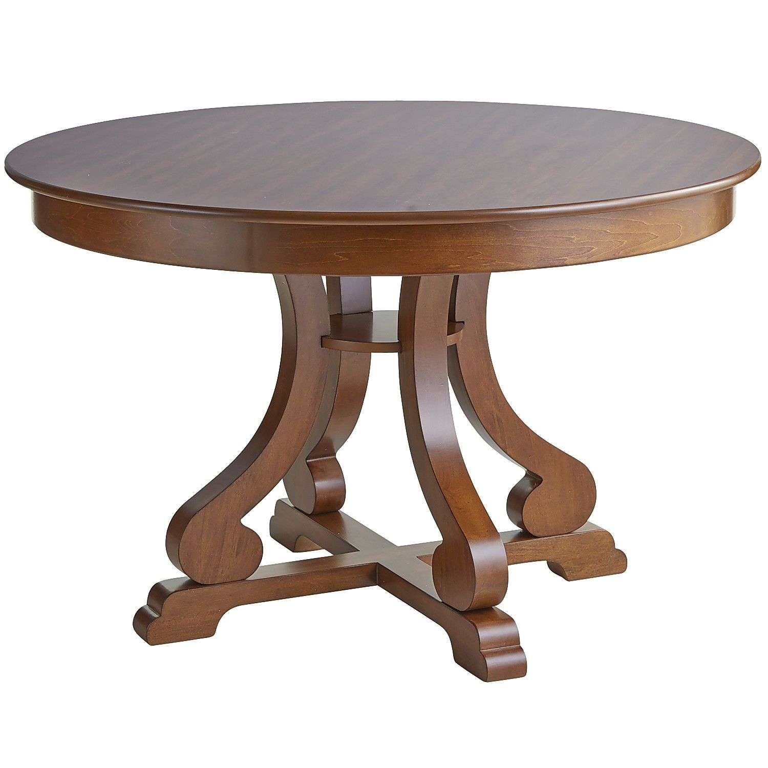 Marchella Pecan Brown Round Dining Table Pier Imports