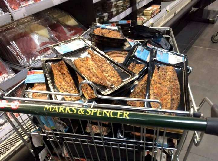 Marks Spencer Throwing Away Trolley Loads Food Makes