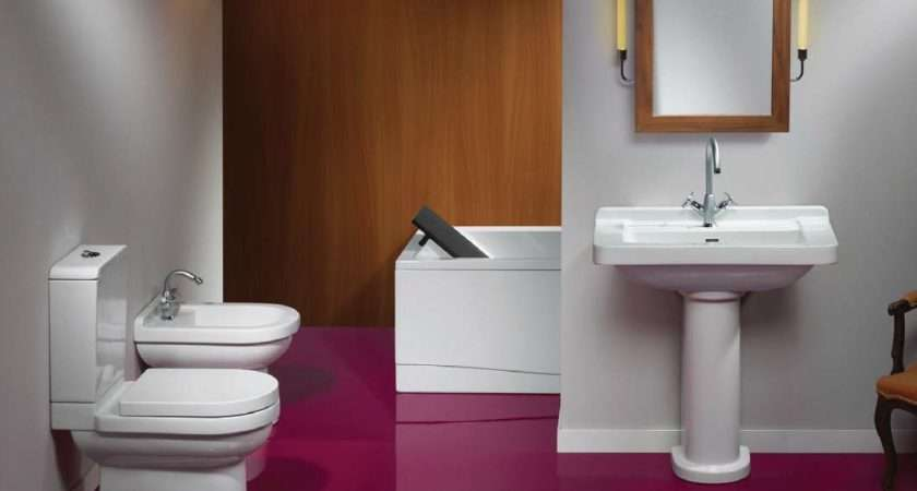Maroon Beautiful Small Bathrooms