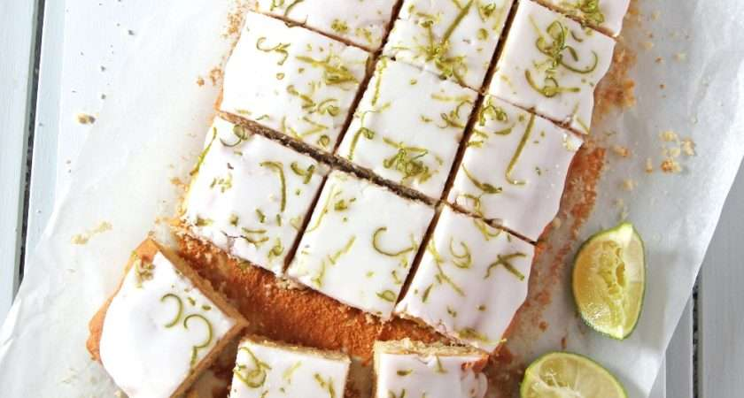 Mary Berry Iced Lime Tray Bake Baking Mad