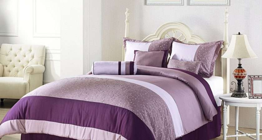 Master Bedroom Design Purple Color Interior Wall