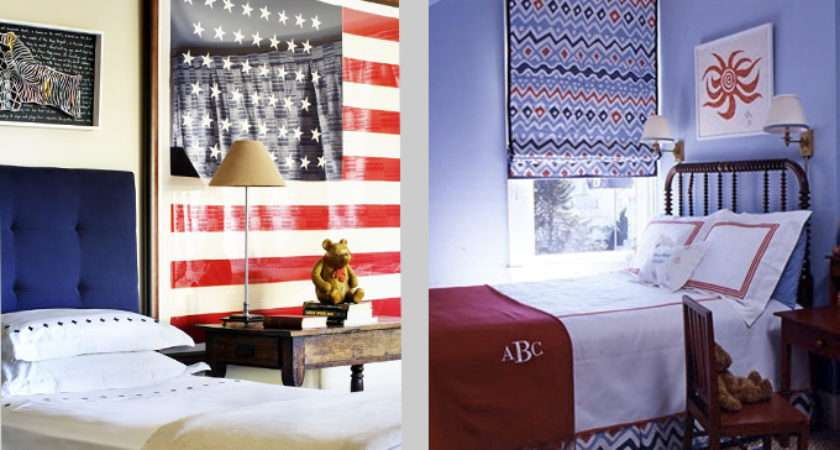 Matouk Red White Blue Bedrooms